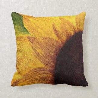Autumn sunflower throw pillow
