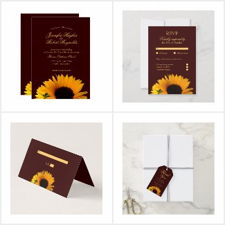 Autumn Sunflower Wedding Collection