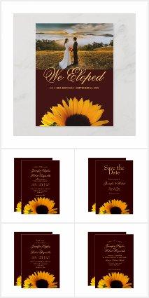 Autumn Sunflower Wedding Collection