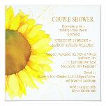 Autumn Sunflower Wedding Couple Shower Card at Zazzle