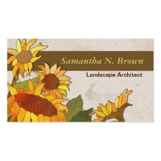 Autumn Sunflowers Unique Business Cards