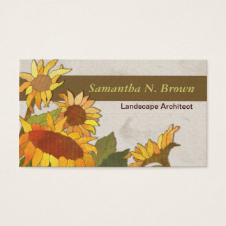 Autumn Sunflowers Unique Business Cards