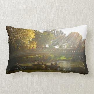 Autumn Sunlight - Central Park - NYC Pillow