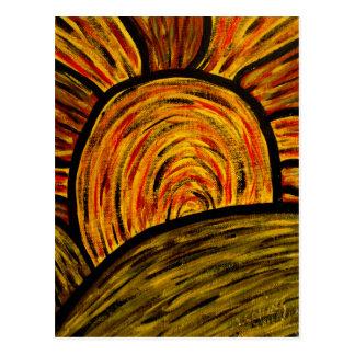 Autumn Sunset Art Postcard