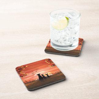 Autumn Sunset Beverage Coaster