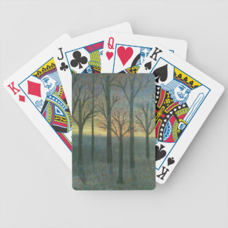 Autumn Sunset Bicycle Playing Cards