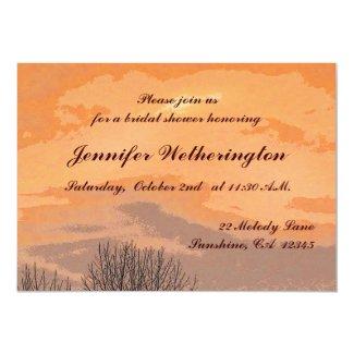 Autumn Sunset Bridal Shower 5x7 Paper Invitation Card