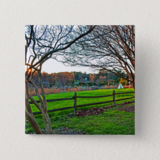 Autumn Sunset by Shirley Taylor Pinback Button
