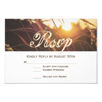 Autumn Sunset Fall Wedding RSVP Cards