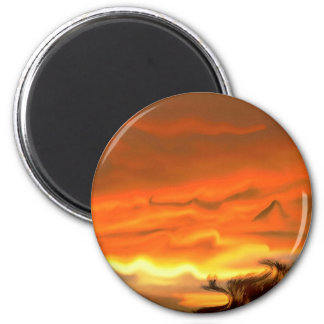 Autumn Sunset Magnet