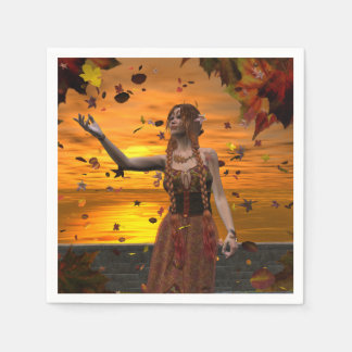 Autumn Sunset Napkin