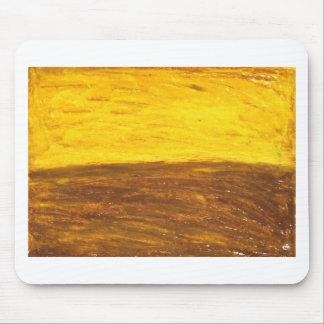 Autumn Sunset over Harvest Field (minimalism) Mouse Pad