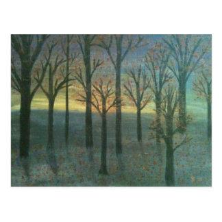 Autumn Sunset Postcard