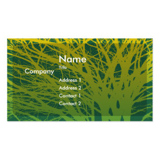 Autumn Sunset Profile Card Business Cards