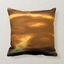 Autumn Sunset Storm Throw Pillow