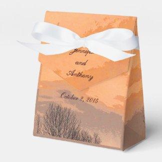 Autumn Sunset Wedding Favor Box