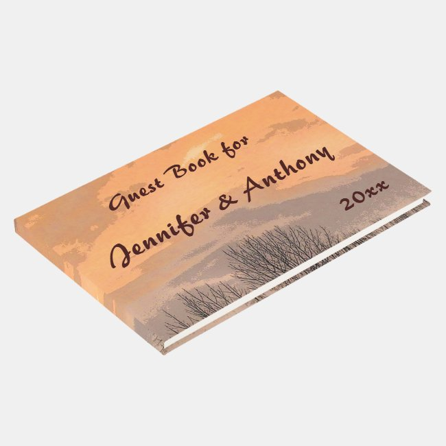 Autumn Sunset Wedding Guest Book