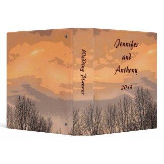 Autumn Sunset Wedding Planner Vinyl Binder