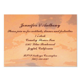 Autumn Sunset Wedding Reception Card