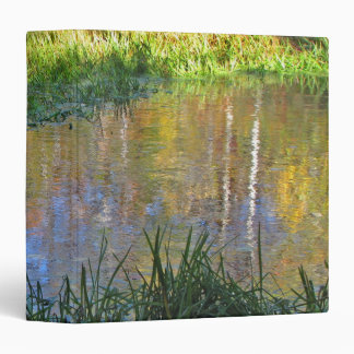 Autumn Swamp Reflections 3 Ring Binder