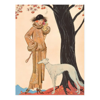 Autumn Symphony by George Barbier Postcard