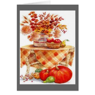 Autumn Table card