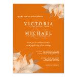 Autumn Tangerine Floral Wedding Invitations