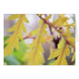 Autumn Tansy Leaves Greeting Card
