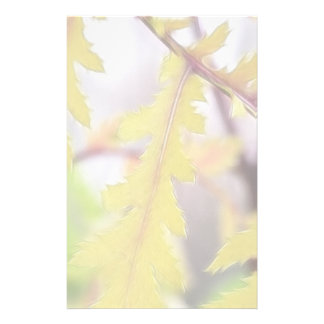Autumn Tansy Leaves Stationery Design