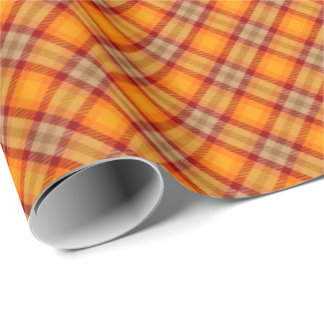 Autumn Tartan Rustic Country Wrapping Paper