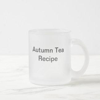 Autumn Tea Recipe Frosted Glass Coffee Mug