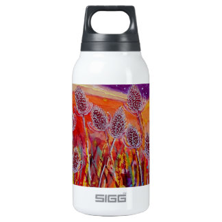 Autumn Teasels Insulated Water Bottle