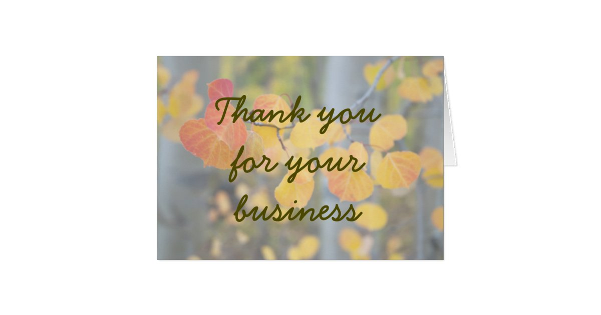 Autumn Thank you for your business greeting Greeting Card