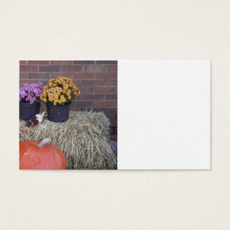 Autumn Thanksgiving Harvest Fall Scene Business Card