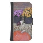 Autumn Thanksgiving Harvest Scene Phone Wallet Case