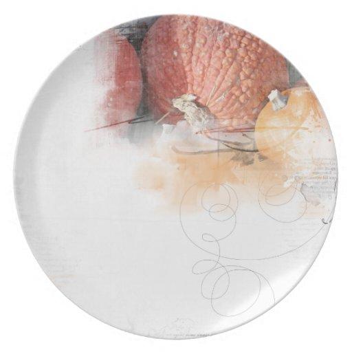 autumn thanksgiving plates