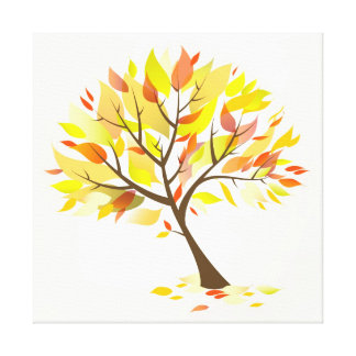 Autumn Theme Tree [24x24] inches Canvas Print