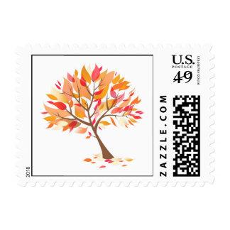 Autumn Theme Tree Beautiful Small Postage