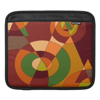 Autumn Themed Abstract Designs Sleeve For iPads