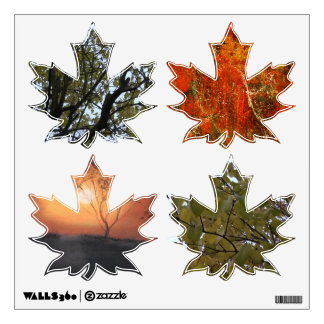 Autumn themed Maple leaf Decal 360 Wall Sticker