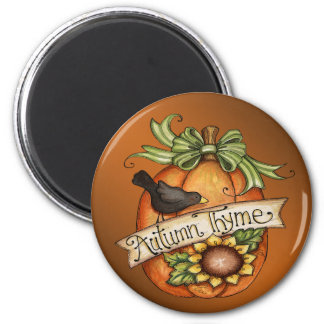 Autumn thyme refrigerator magnets