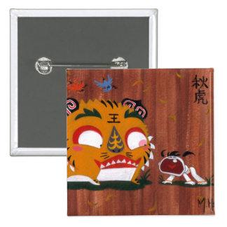 Autumn Tiger Pinback Button