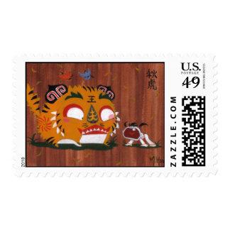 Autumn Tiger Postage Stamp