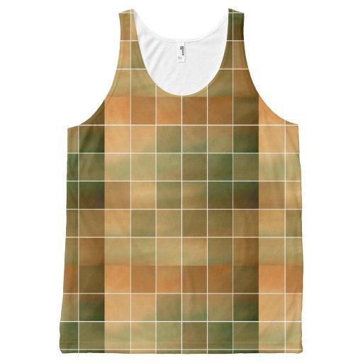 Autumn tiles All-Over print tank top Tank Tops, Tanktops Shirts