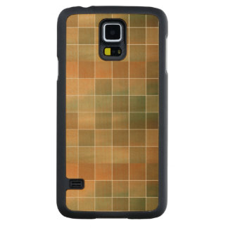 Autumn tiles carved maple galaxy s5 case