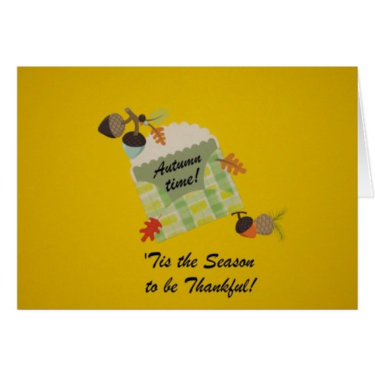 Autumn time! card
