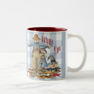Autumn Time Two-Tone Coffee Mug