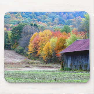 Autumn Tobacco Barn Nature Photography Mousepad