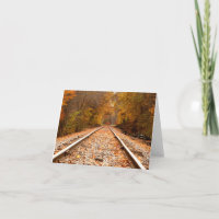 Autumn Tracks notecard