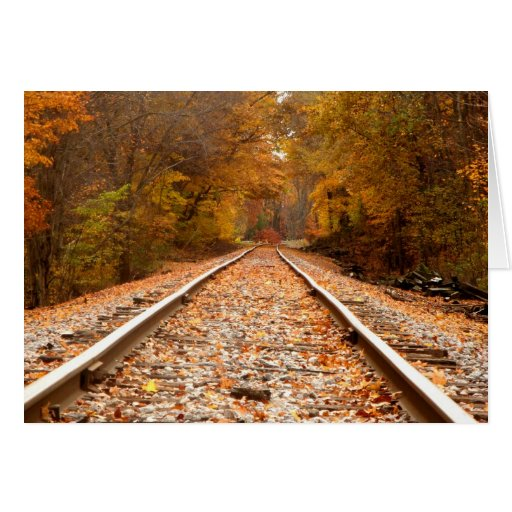 Autumn Tracks notecard